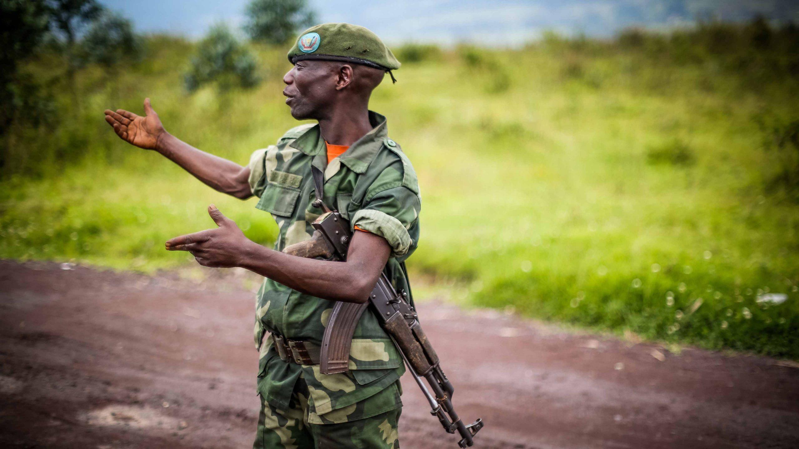 Soldat i det krigsherjede Kongo