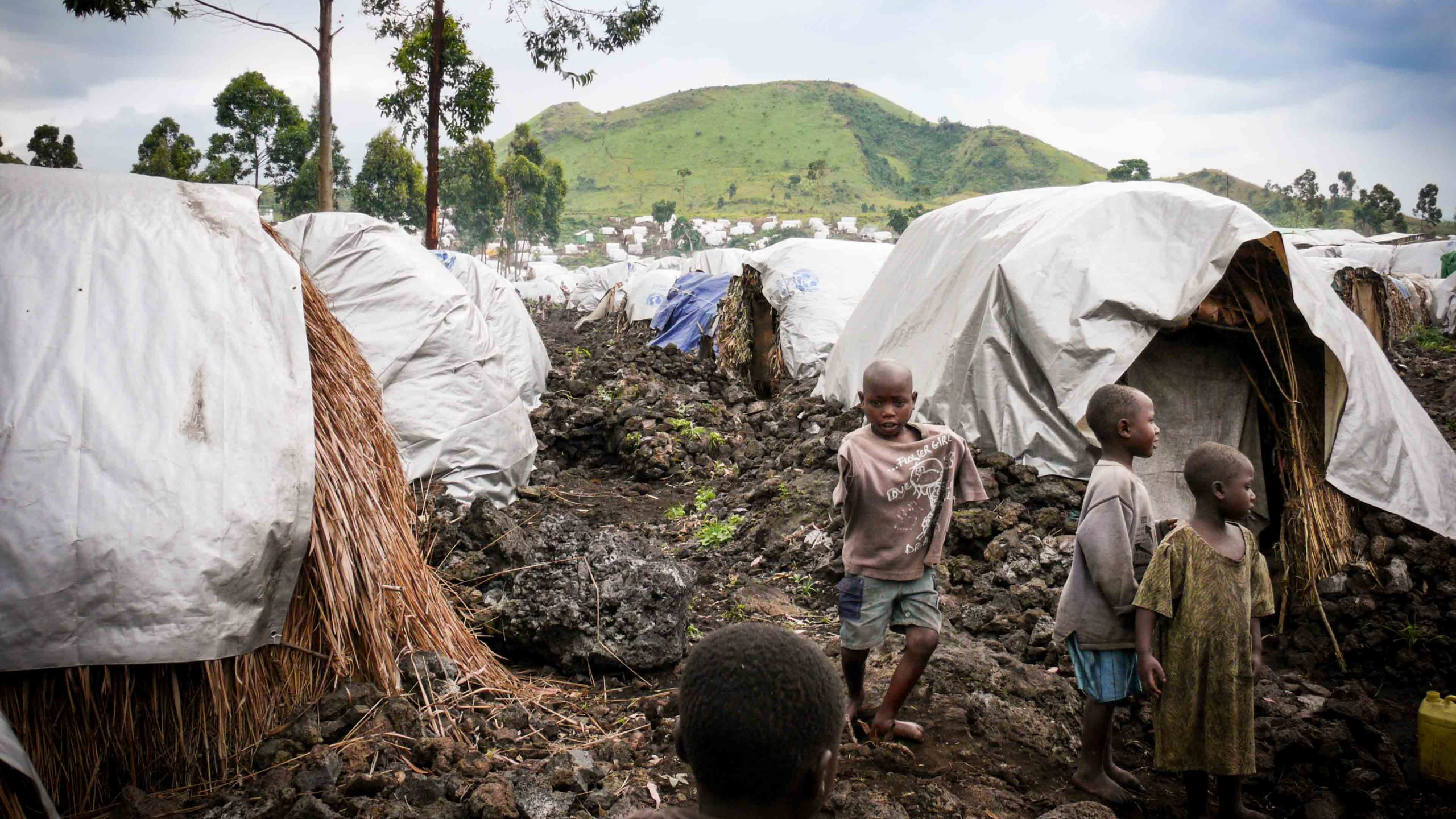 Mennesker på flukt i Kongo