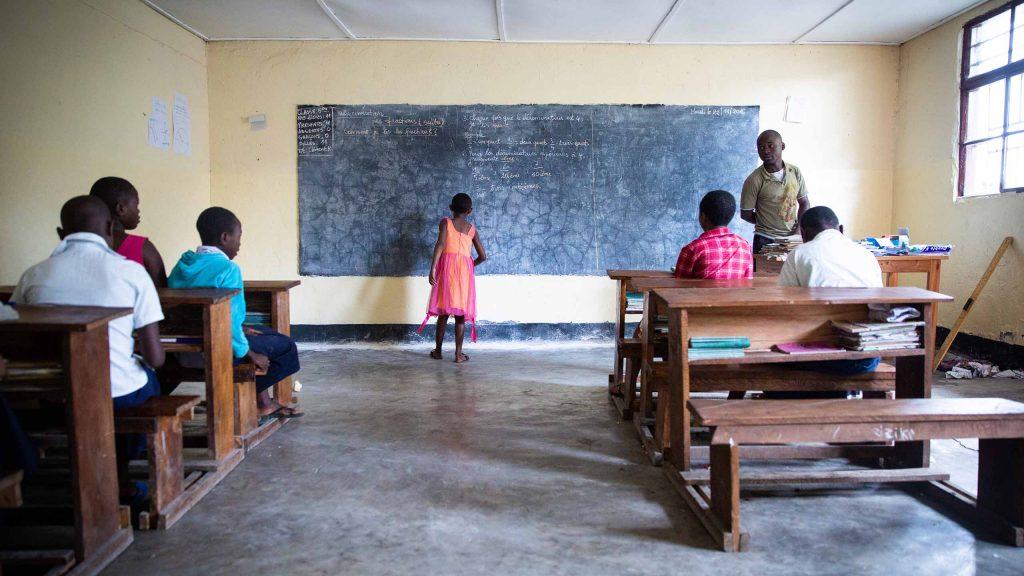 Slik ser klasserommene ut.