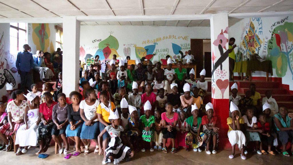Jentene som får hjelp ved stiftelsens senter i Bukavu, Sør-Kivu-provinsen.