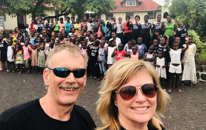 Arild Tørresen og Anne May Grosås i Kongo i 2019.